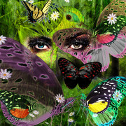 Butterfly woman Art-